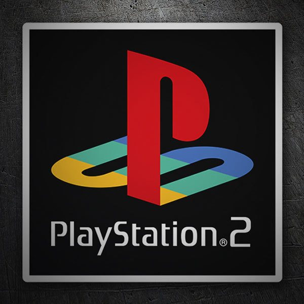 Aufkleber: Play Station 2 Stempel