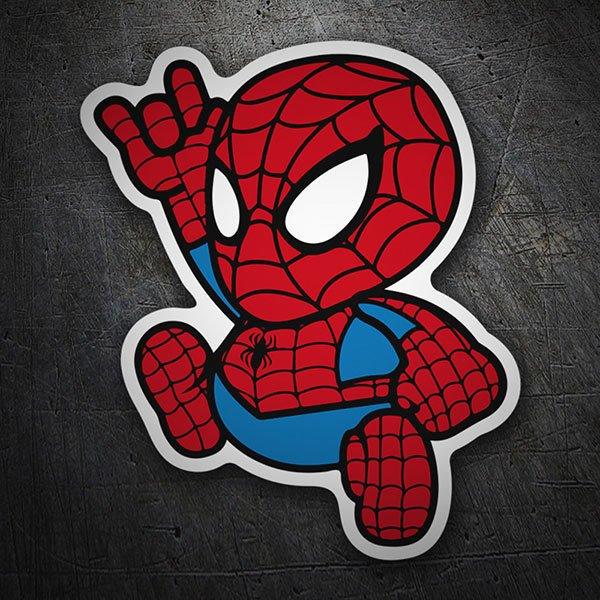Aufkleber: Spiderman Cartoon