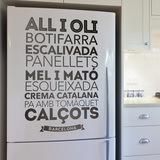 Wandtattoos: Gastronomie in Barcelona 0
