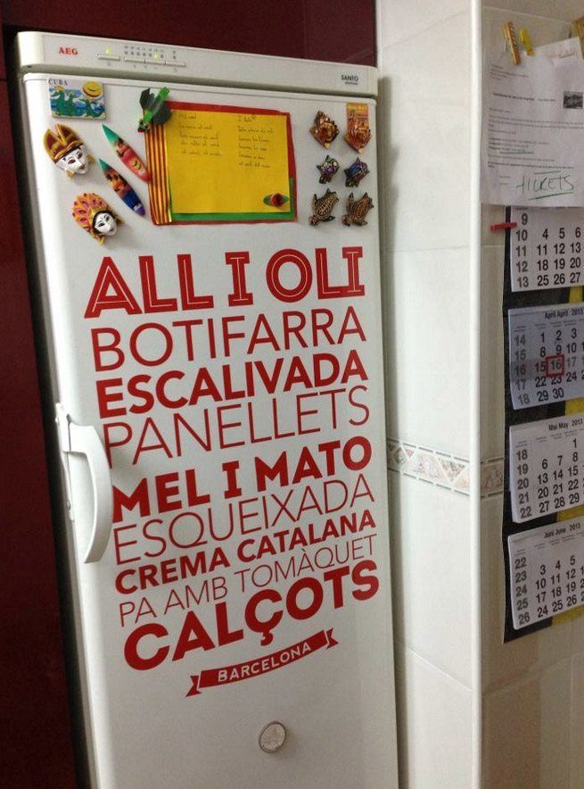 Wandtattoos: Gastronomie in Barcelona