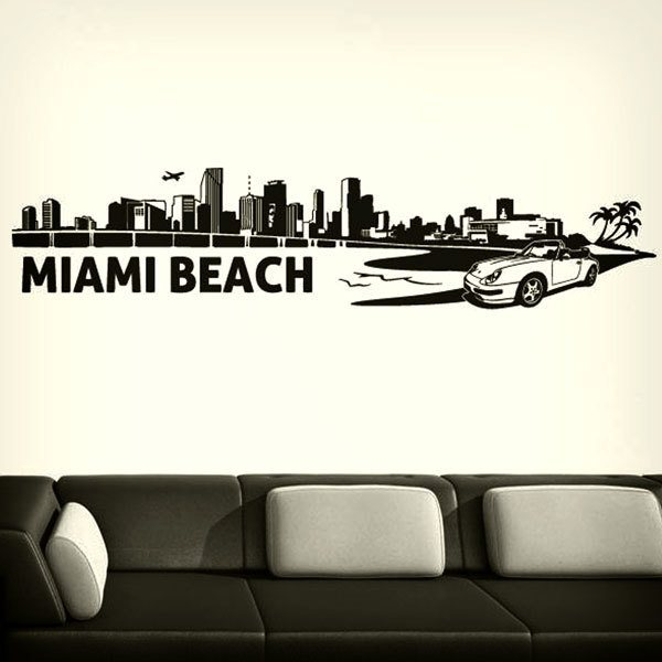 Wandtattoos: Miami Skyline