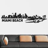 Wandtattoos: Miami Skyline 2