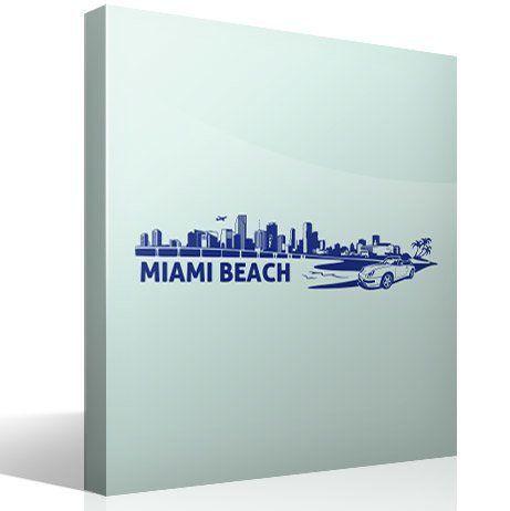 Wandtattoos: Miami Skyline