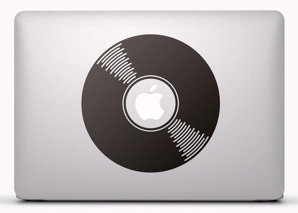 Aufkleber: Schallplatte