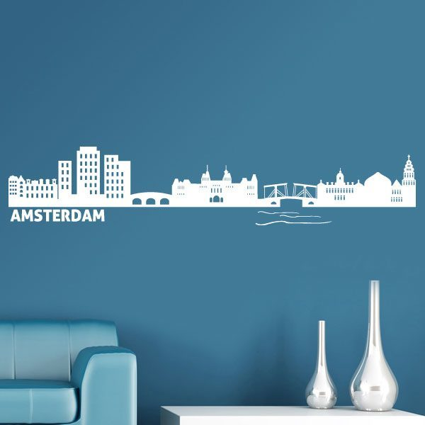 Wandtattoos: Skyline Amsterdam