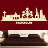 Wandtattoos: Skyline von Brüssel 1