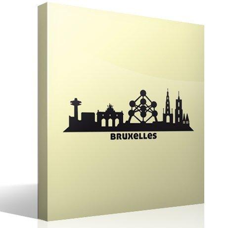 Wandtattoos: Skyline von Brüssel