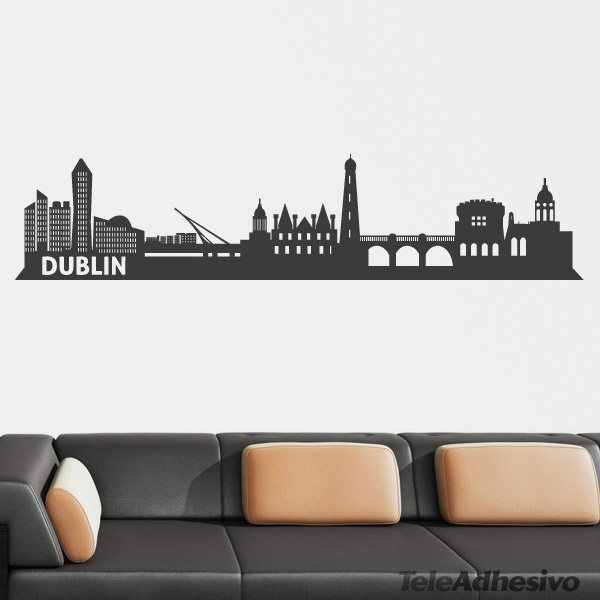 wandtattoos dublin skyline. Black Bedroom Furniture Sets. Home Design Ideas