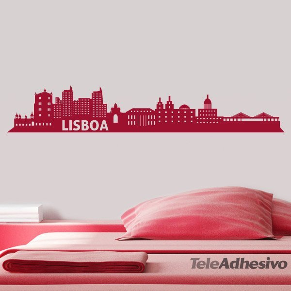 Wandtattoos: Lissabon-Skyline