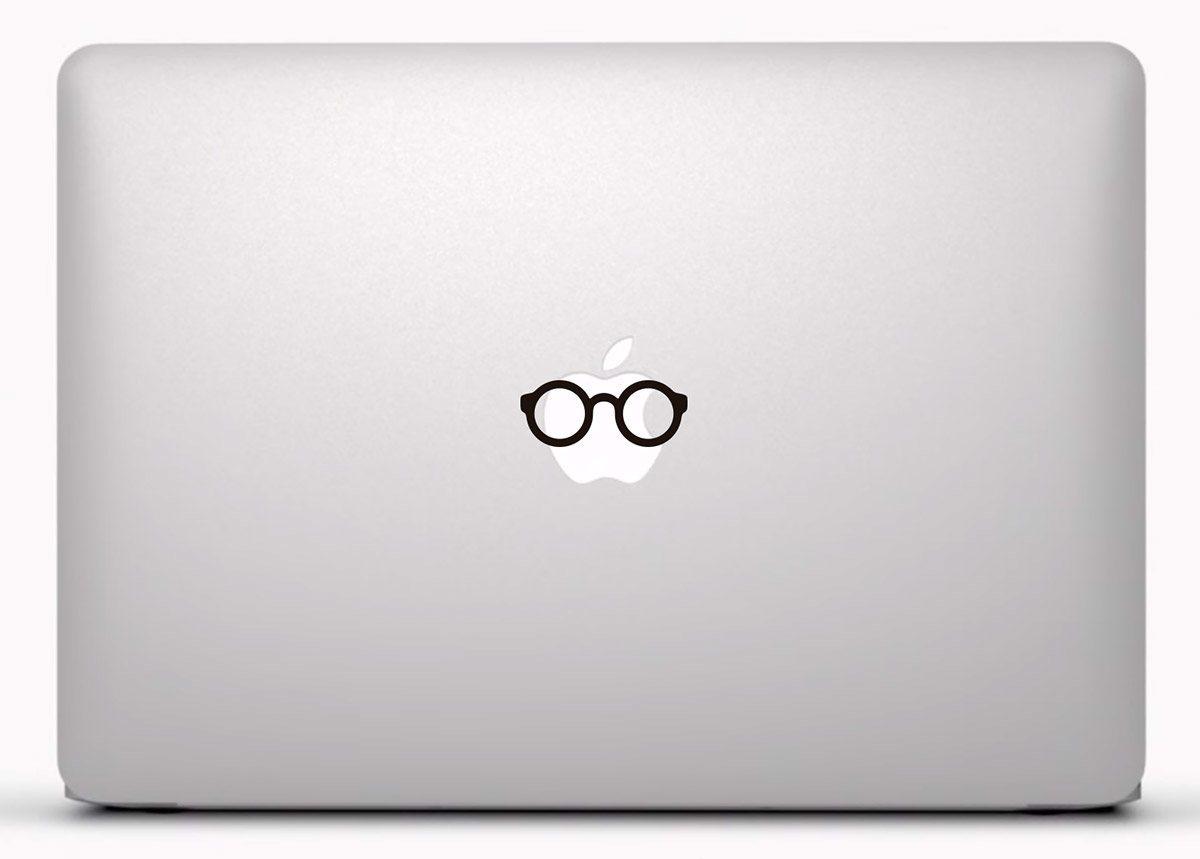 Aufkleber: Runde Brille