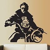 Wandtattoos: James Dean Motorrad 1