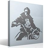 Wandtattoos: James Dean Motorrad 5