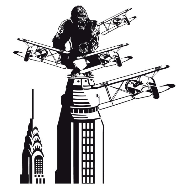 Wandtattoos: King Kong in New York