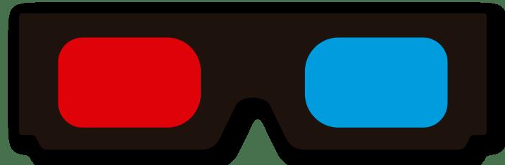Aufkleber: 3D-Brille