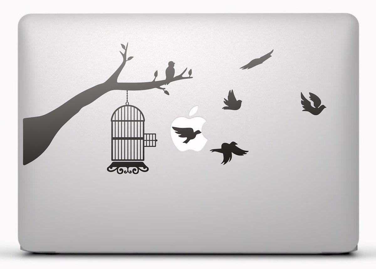 Aufkleber: Vogelbauer