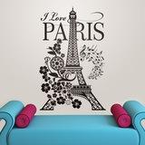 Wandtattoos: I Love Paris 0