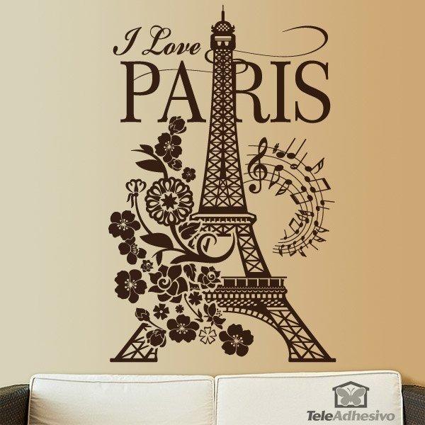 Wandtattoos: I Love Paris