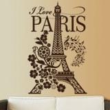 Wandtattoos: I Love Paris 1