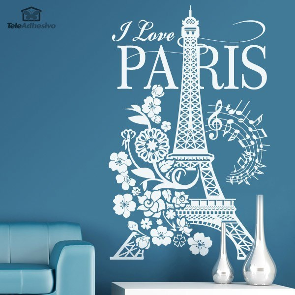 Wandtattoos: I Love Paris
