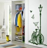 Wandtattoos: Fahrrad und Laternenpfahl 3