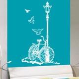 Wandtattoos: Fahrrad und Laternenpfahl 4