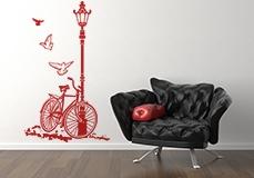 Wandtattoos: Fahrrad und Laternenpfahl 6