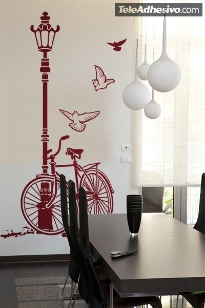 Wandtattoos: Fahrrad und Laternenpfahl