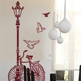 Wandtattoos: Fahrrad und Laternenpfahl 7