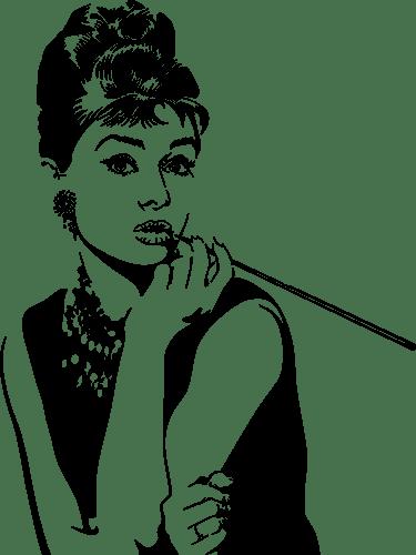 Aufkleber: Audrey Hepburn