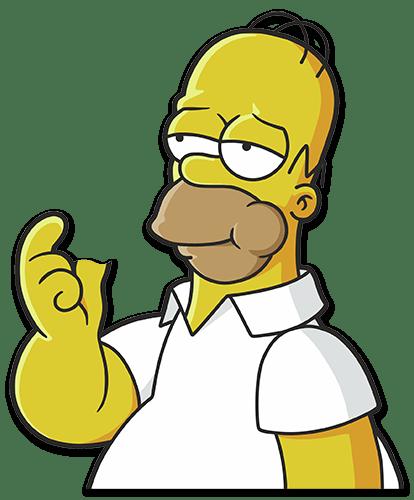 Aufkleber: Homer Simpson