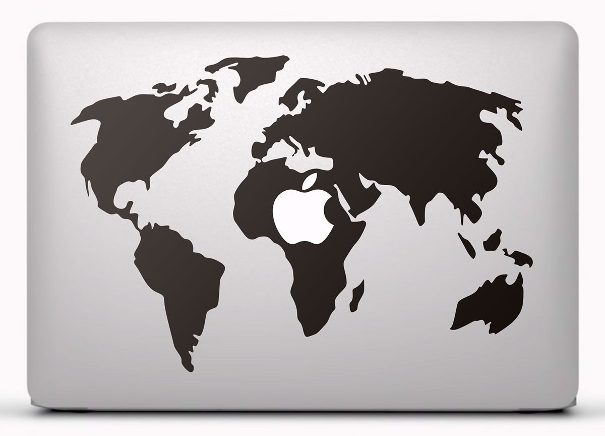 Aufkleber: Weltkarte