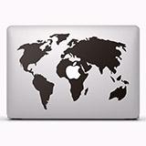 Aufkleber: Weltkarte 2