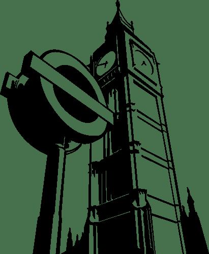 Aufkleber: Big Ben Underground