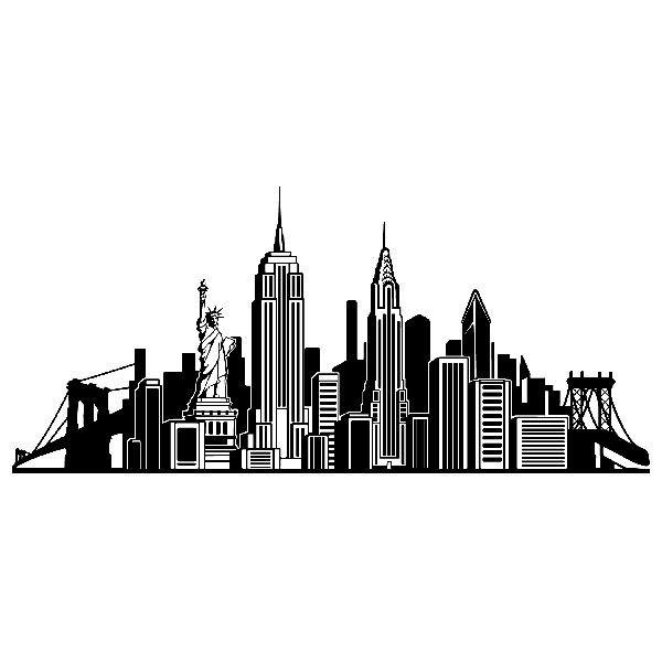 Wandtattoos: Skyline New York