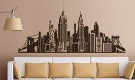Wandtattoos: Skyline New York 3