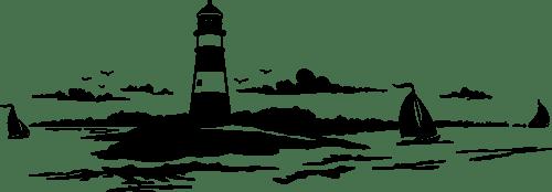 Aufkleber: See-Leuchtturm