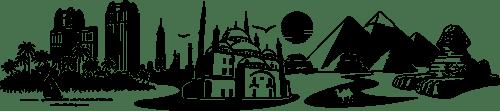 Aufkleber: Skyline von Kairo