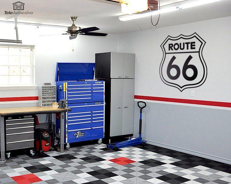 Wandtattoos: Route 66 Zeichen