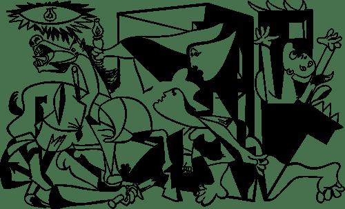 Aufkleber: Picassos Guernica