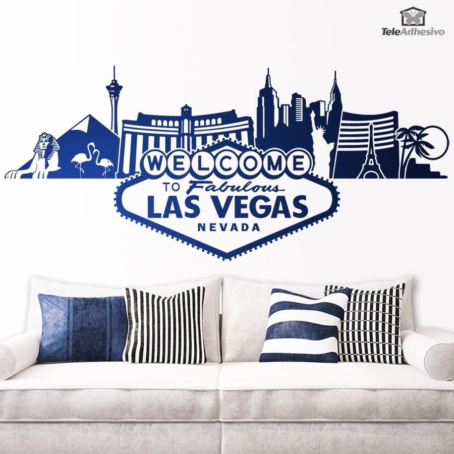 Wandtattoos: Las Vegas-Skyline