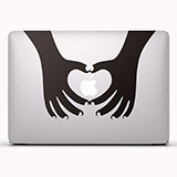 Aufkleber: Silhouette Hände Herzen 2 2