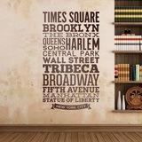 Wandtattoos: Typografische Straßen von New York 0