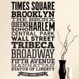 Wandtattoos: Typografische Straßen von New York 1