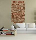 Wandtattoos: Typografische Straßen von New York 3