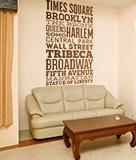 Wandtattoos: Typografische Straßen von New York 5