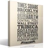 Wandtattoos: Typografische Straßen von New York 6