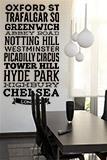 Wandtattoos: Typografische Straßen von London 3