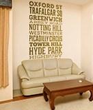 Wandtattoos: Typografische Straßen von London 5