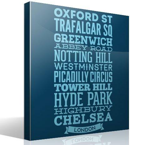 Wandtattoos: Typografische Straßen von London
