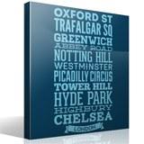 Wandtattoos: Typografische Straßen von London 7